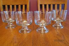 Set Of Four Anchor Hocking Presence Clear Glass Mini Trifle Bowls Ice Cream