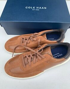 Cole Haan Mens 10 M Grand OS Crosscourt II Fashion Sneaker Shoes Tan Leather