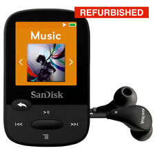 SanDisk Clip Sport Sansa MP3 Player 4GB - In BLACK - REFURBISHED & GUARANTEED