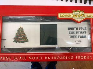 Bachmann 93397 RARE NP&SF Lighted & Blinking Track Powered Christmas Box Car !!!