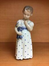Royal Copenhagen Danish Porcelain Girl with Doll #3539 Figurine Denmark