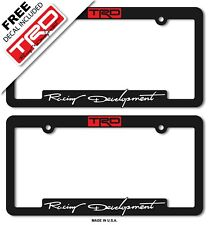 TRD Toyota Racing Development License Plate Frame Tacoma-4-RunnerTundra-86-Supra