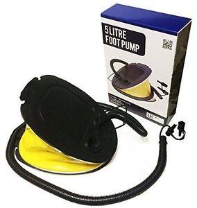 5L Foot Pump Airpump Inflatable Airbed Swimmimg/Paddling Pool Air Bed Camping UK