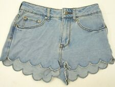 New Pacsun High Rise Bullhead Denim Size 1 Whimsical Scalloped Festival Shorts