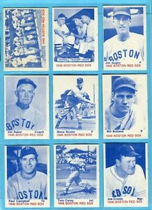 1975 TCMA 1946 Boston Red Sox Complete Set of 43 Baseball Cards Ex/Mt - NM