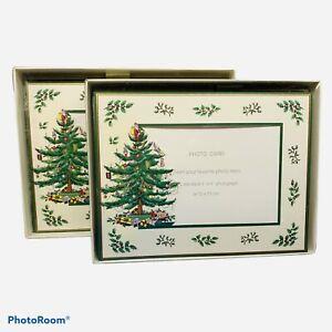 CASPARI Spode Christmas Tree Photo Card Box Of 10 with Env Plus Partial Box Of 6