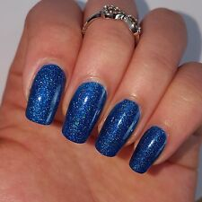 DARK BLUE HOLOGRAPHIC Shiny Nail Polish 15ml indie 5-free vegan cruelty-free