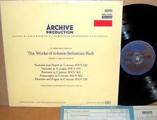 ARCHIV RED STEREO JS Bach HELMUT WALCH Organ Works Fantasias SAPM 198 805