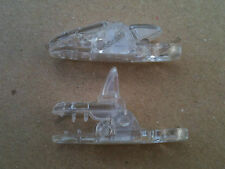 10 Clear Transparent Plastic Badge Clips for making Dummy Clips/Straps, ETC