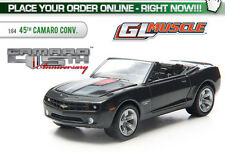 GREENLIGHT 2012 CHEVROLET CAMARO CONVERTIBLE BLACK 45TH 1/64 ANNIVERSARY 13051