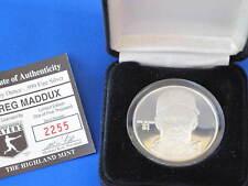 Highland Mint Greg Maddux Proof Silver Art Medal MLB E2811