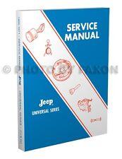 Jeep CJ3B CJ5 CJ6 Shop Manual 1966 1967 1968 1969 1970 1971 Repair CJ 5A 6A DJ