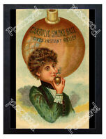 Historic Carbolic Smoke Ball, Gives Instant Relief, c.1892 Advertising Postcard