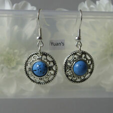 Handmade Turquoise Tibetan Silver Costume Earrings