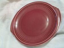 Edwin Knowles YORKTOWN Maroon Tab Handle Round Platter
