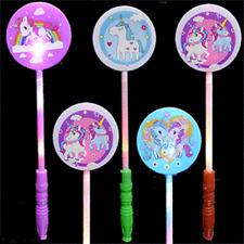 12 Unicorn Wands Favors Light Up Flashing Magic Unicornio Party LED Toy Sticks