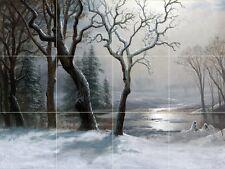 Winter In Yosemite Tile Mural Kitchen Bathroom Wall Backsplash Art 24x18