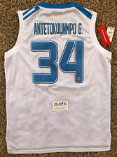 Giannis Antetokounmpo Signed Greece Jersey Milwaukee Bucks COA #34 NBA MVP 2019