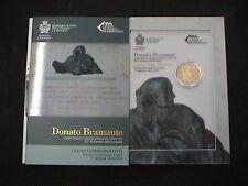 SAN MARINO 2014 RSM 2 EURO COMMEMORATIVO BRAMANTE FOLDER ORIGINALE UFFICIALE FDC