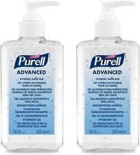 PURELL Advanced 70% Alcohol Hand Sanitizer Pump Top Bottle 2x 300ml Bottles