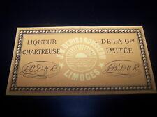 etiquette Grande Chartreuse liqueur imitée Denis et Rousseau Limoges bouteille