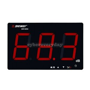 """Digital Sound Level Meter 30-130dB with 9.6"""" LED Display Alarm Prompt SW-525A"""