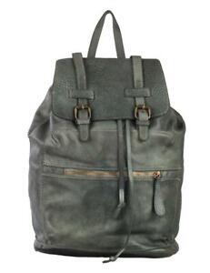 BZNA Bag Karni Grau Backpacker Designer Rucksack Damenhandtasche Leder