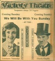 Advertising Newspaper Victory Movie Ad The Idle Class Charlie Chaplin 1921