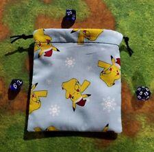 Pokémon Pikachu Christmas Santa Hat Dice Bag, Card Bag, Makeup Bag