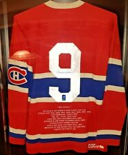 MAURICE RICHARD Montreal Canadiens HAND SIGNED Vintage Wool Jersey WGA WOW NHL