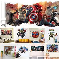 12 Styles 3D Superheroes Avengers Wall Decals Vinyl Stickers Art Home/Room Decor