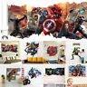 3D Superheroes Avengers Wall Decals Vinyl Sticker Kids Home/Room Decorative DIY