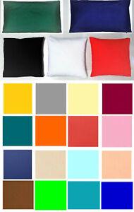 Kissenbezüge Hüllen Baumwolle + Reißverschluss 100 % Baumwolle mehrere Auswahl