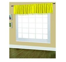 "Set of 2 Editex Home Textiles Elaine Lined Pinch Pleated Valance 48""x18"" Yellow"