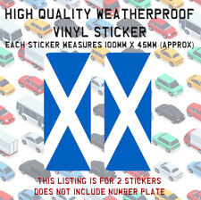2 Scotland St Andrews Scottish Flag Number Plate End Vinyl Sticker Stick On N033
