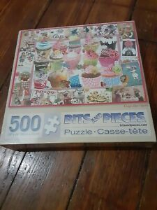 """500 Piece Barbara Behr Art Puzzle Cupcake Quilt New 18"""" x 24"""" SEALED SHIPS FREE"""