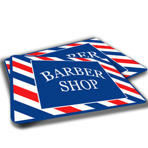 Red White Blue Barber Shop Sign Design Indoor Door Mat Rug TWO RUGS
