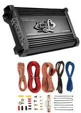 Lanzar Htg157 3000W Mono Mosfet Car Audio Power Amplifier + 8 Ga Amp Kit Intall