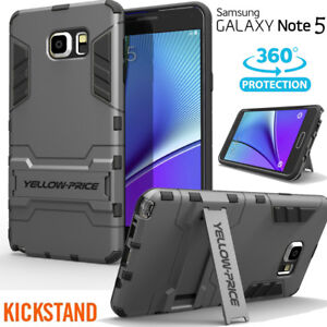 For Galaxy Note 4 5 Rugged Armor Defender Protective Cover Case with Kickstand