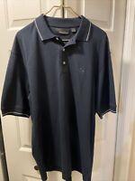 Greg Norman Black Golf Shirt Polo The Shark Men's Large
