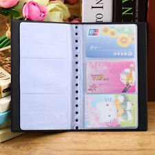 New 60 Cards Business Name ID Credit Card Holder Organizer Leather Case Book
