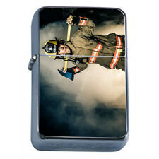 Firefighters D11 Windproof Dual Flame Torch Lighter Refillable Heros