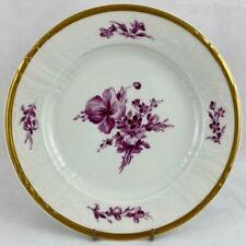 "Antique Royal Copenhagen Juliane Marie Mark Purple Flowers 9"" Plate C1900"