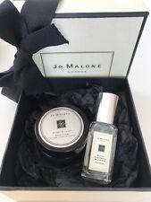 Jo Malone Black CedarWood Juniper 9ml Cologne + Myrrh & Tonka 15ml Creme GiftBox