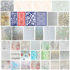 PVC Privacy Window Glass Film Sticker Static Cling 3D Frosted Stained Home Decor