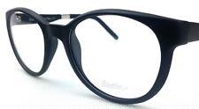 DESIGNER Eyeglasses Frame by Borsalino Made in Italy 50-20-140 Matt Black Round
