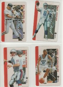 90'S INSERT LOT (8/10) 1996 ASSETS CLEAR $5 CRYSTAL PHONE CARDS UNSCRATCHED