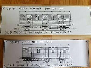 D&S Models GER/LNER/BR General Van + CCT TWIN pack etched brass kits