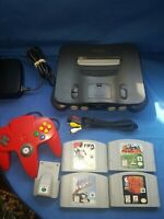 Nintendo 64 Console With 4 Games, official Red Controller & N64 Rumble Pak