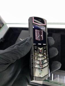 Original Vertu Signature S Pure Black Red Diamond  Cellular Phone (Unlocked)